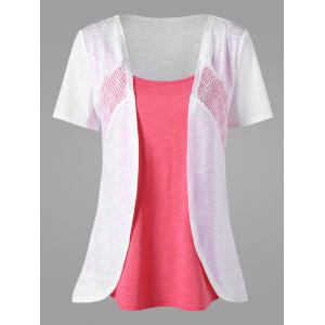 Asymmetrical Two Tone T-shirt