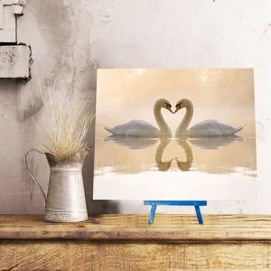 DIY 5D Resin Diamond Goose in Lake Paperboard Painting