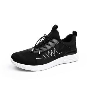 String Print Breathable Athletic Shoes -