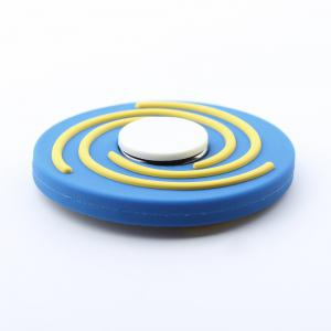 Round EDC Finger Gyro Hand Spinner Fiddle Toy - BLUE AND WHITE