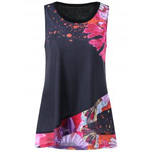 Flower Overlap Tank Top