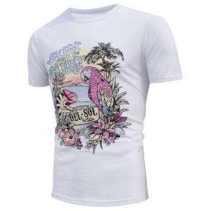 Scenery Print Color Changing T-shirt