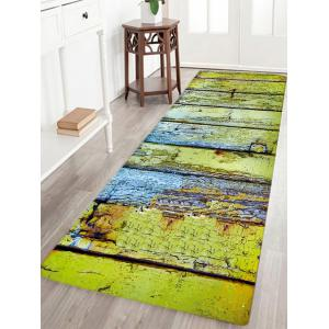 Corroded Wood Floor Pattern Water Absorption Area Rug