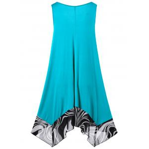 Handkerchief Mini Short Flowy Plus Size Dress -