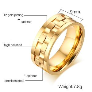 Stainless Steel Finger Circle Fidget Ring -