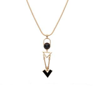 Triangle Resin Ball Pendant Necklace