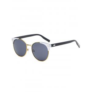 Cat Eye Vintage Round Metallic Splicing Sunglasses