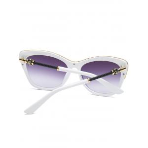Butterfly Design Metallic Inlay Frame Anti UV Sunglasses - WHITE