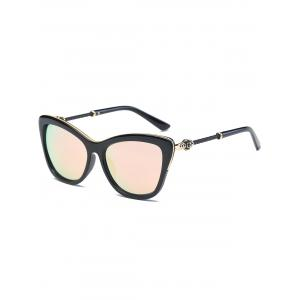 Reflective Butterfly Design Metal Inlay Frame Sunglasses - Pink - 6xl