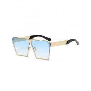 Street Snap Retro Square Frame Sunglasses - Light Blue