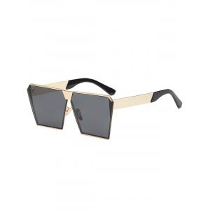 Street Snap Retro Square Frame Sunglasses