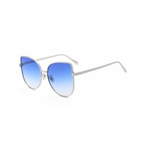 Wide Cat Eye Design Gradient Color Sunglasses