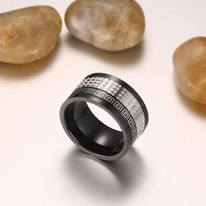 Fret Pattern Fidget Spinner Finger Ring - BLACK 10