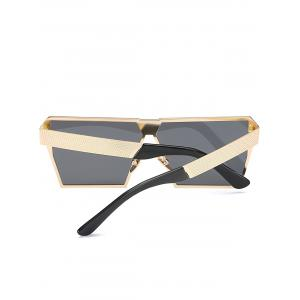 Street Snap Retro Square Frame Sunglasses - BLACK