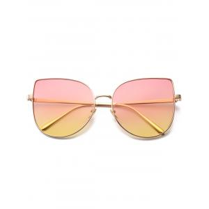 Wide Cat Eye Design Gradient Color Sunglasses - PINK