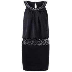 Sequined Embellished Club Mini Blouson Dress