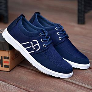 Tie Up Stitching Breathable Casual Shoes -