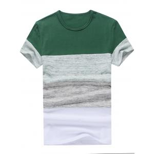 Color Block Space Dyed Insert Tee