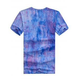 Short Sleeve Tie Dye Tee - BLUE XL