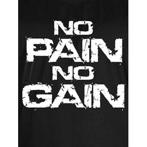 No Pain No Gain Workout Tank Top - WHITE AND BLACK M