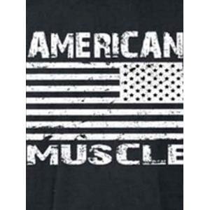 Bodybuilding Muscle American Flag Tank Top - Gris Foncé 2XL
