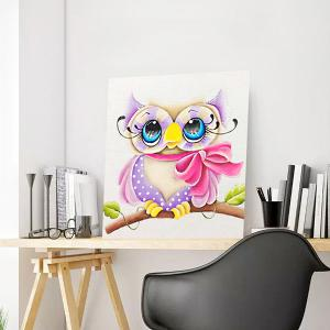 DIY 5D Resin Diamond Cartoon Peinture à l'aiguille timide Eagle - Multicolore