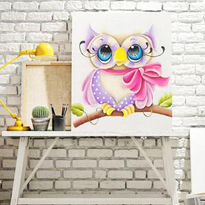 DIY 5D Resin Diamond Cartoon Shy Eagle Paperboard Painting