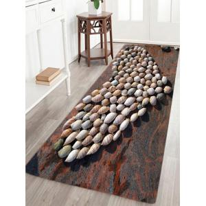 Beach Conch Heart Pattern Slow Rebound Water Absorption Area Rug