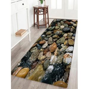 Sea Stone Pattern Slow Rebound Water Absorption Area Rug - W16 Inch * L47 Inch