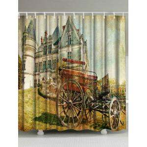 Bathroom Decor Oil Painting Fabric Shower Curtain