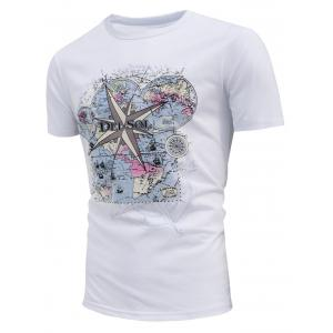 Map Print Del Sol Sun Change Color T-shirt - White - L