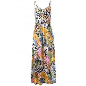 Cami Tropical Bohemian Maxi Dress