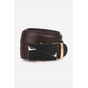Auto Buckle Triangle Bulge Faux Leather Belt -