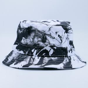 Smoke-Filled and Letters Print Bucket Hat -