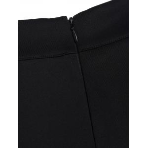 High Waisted Bodycon Button Design Skirt - BLACK ONE SIZE