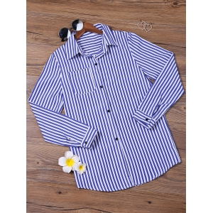Stripes Long Sleeve Formal Shirt -