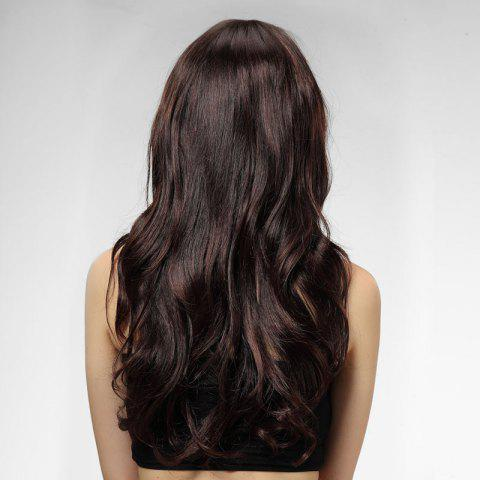 Trendy Long Full Bang Layered Wavy Synthetic Wig - CHESTNUT 12/24#  Mobile