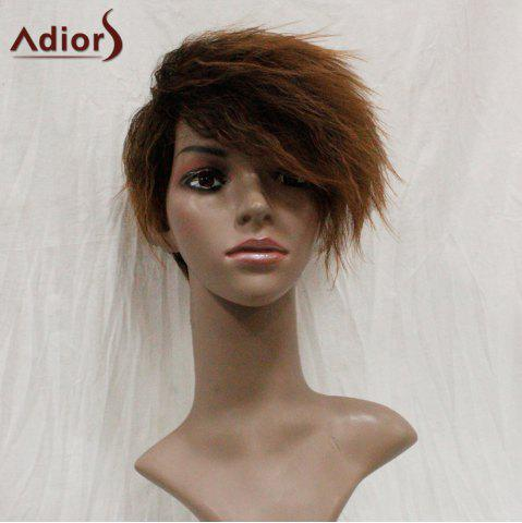 Outfits Adiors Shaggy Side Swept Bang Short Straight Synthetic Wig - COLORMIX  Mobile