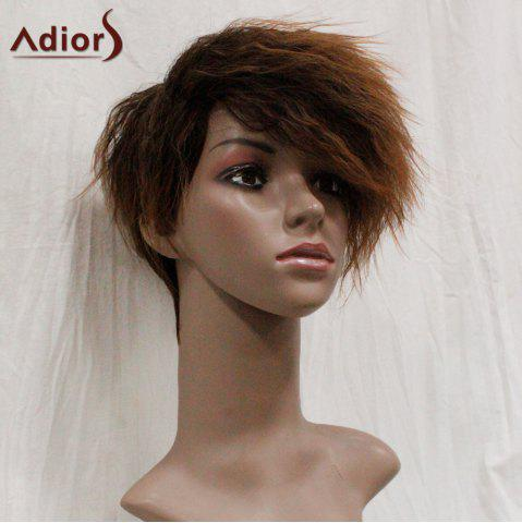 New Adiors Shaggy Side Swept Bang Short Straight Synthetic Wig - COLORMIX  Mobile