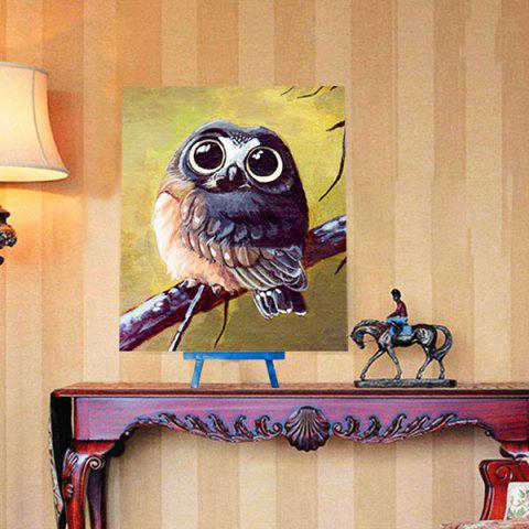 Unique Cartoon Night Owl DIY 5D Resin Diamond Paperboard Painting - YELLOW + GREEN  Mobile