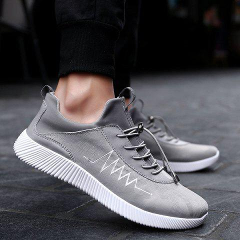 Chic String Print Breathable Athletic Shoes