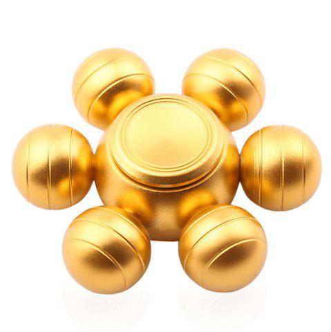 Trendy Six-ball Fidget Metal Spinner Stress Relief Toy GOLDEN