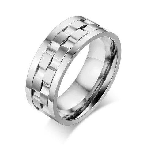 Shops Stainless Steel Finger Circle Fidget Ring - 8 SILVER Mobile
