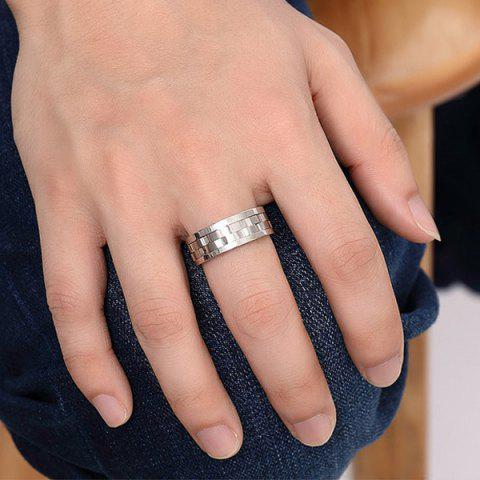 Online Stainless Steel Finger Circle Fidget Ring - 9 SILVER Mobile