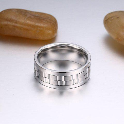 Unique Stainless Steel Finger Circle Fidget Ring - 9 SILVER Mobile