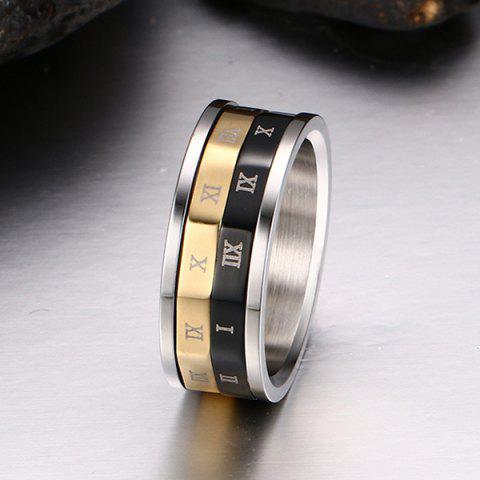 Best Engraved Roman Numerals Finger Fidget Ring - 8 SILVER Mobile