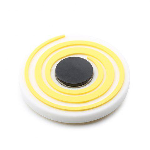 Discount Vortex Pattern Round EDC Fidget Spinner Fiddle Toy YELLOW