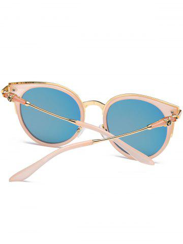 Shops Mirror Reflective Round Retro Cat Eye Sunglasses - PINK FRAME+PINK LENS  Mobile