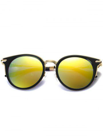 Shops Mirror Reflective Round Retro Cat Eye Sunglasses - GOLDEN  Mobile