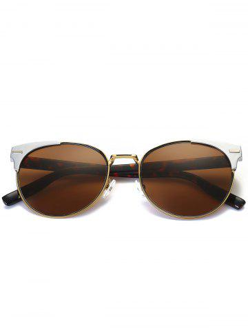 Affordable Cat Eye Vintage Round Metallic Splicing Sunglasses - HAWKSBILL  Mobile